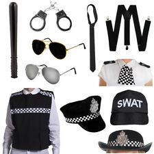 POLICEMAN POLICEWOMAN FANCY DRESS CHOOSE ACCESSORY POLICE COSTUME ACCESSORIES