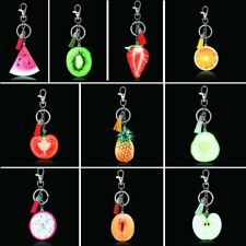 1Pc Fruits Slice Shape New Lovely Key Chain Key Ring Chunk Charm Colorful Gift