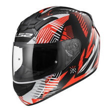LS2 FF352 ROOKIE Infinite Rojo Casco Integral Motocicleta ACCIDENTE