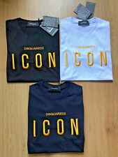 DSQUARED2 Icon Men T-Shirt Short Sleeves 100% Cotton Embroidered (ICON) Logo