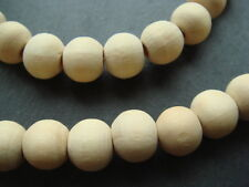 """Natural wood bead necklace 16"""" 18"""" 20"""" 22"""" 24"""" 30"""" light brown untreated beads"""