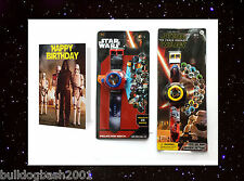 Star Wars watch,built in projector,The Force Awakens,Birthday card,Gift