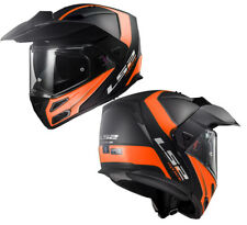 LS2 FF324 METRO EVO Double visière Rabattable aventure moto Casque RAPID Orange
