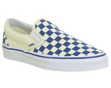 Mens Vans Vans Classic Slip On TRUE BLUE CLASSIC WHITE CHECKERBOARD Trainers Sho