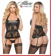 Corsetto in similpelle con pizzo Juelz Allure Lingerie Sexy shop toys donna eros