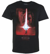 Official Men's Black Star Wars VIII The Last Jedi Poster T-Shirt