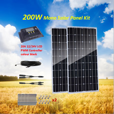 200w Mono Solar Panel 200Watt Kit with 20A LCD Solar Controller RV Boat off Grid
