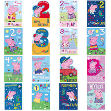 Peppa Pig Birthday Cards (Assorted)i