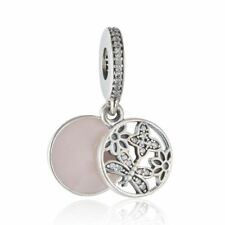 Genuine Sterling Silver Pendant Charm Beads Pave cz genuine charms Fit bracelets