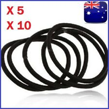 5-10pcs Elastic Rubber Black Hair Ties Hair Band Ropes Women's Ponytail Holder