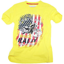 Salty Dog T-Shirt Biker Rally Yellow