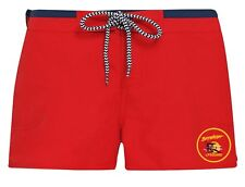 LADIES BAYWATCH ® Contrast Red / Navy LICENSED Lifeguard Swim Shorts