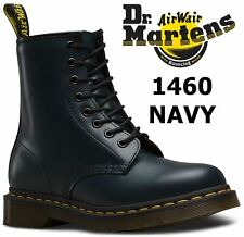 Dr Martens Unisex 1460 Navy Blue Classic Smooth Leather 8 Eye Ankle Doc Boots