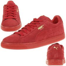 puma daim Classic + Mono Iced Baskets / Chaussures Homme Cuir Rouge 360231 05