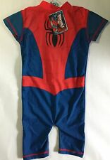 Baby Boy Blue & Red Sunsuit in Spiderman detail. 18-24 months