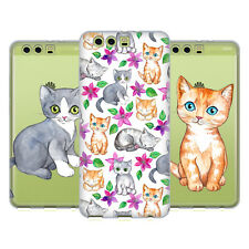 OFFICIAL MICKLYN LE FEUVRE CATS SOFT GEL CASE FOR HUAWEI PHONES