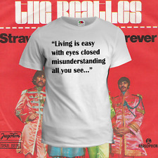 T - SHIRT    UOMO   BEATLES STRAWBERRY FIELDS FOREVER