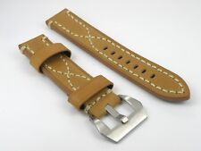 Genuine Leather Strap Band Buckle Officine Panerai Watch 20 22 24 26mm
