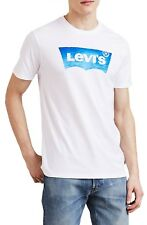 LEVIS Men's New Housemark Graphic Print Logo T-Shirt Print Top Tee White