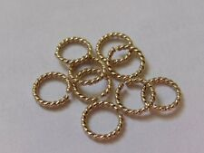 Twisted Gold Filled Open Jump Rings (1.0mm wire, approx. AWG 18). Pack of 10
