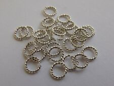 Twisted Argentium Silver Open Jump Rings (AWG 18 approx 1.0mm). Pack of 10