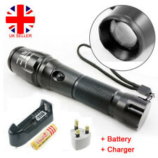 CREE XM-L T6 LED Zoomable Flashlight Torch Focus Lamp Light 2000LM UK Stock A