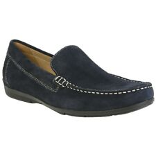 24690f36d94 New Mens Geox Blue Siron Leather Shoes Loafers And Slip Ons On