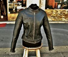 Giubbotto in pelle moto donna  byker harley style genuine leather marca Guendj