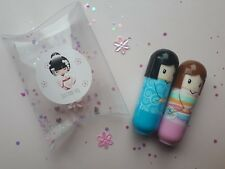 Japanese Kimono doll Lip balm Nail polish varnish Gift set Beauty make up kit