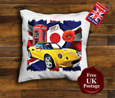 Lotus Elise S1 Cushion Cover, Lotus Elise S1 Cushion, Union Jack, Mod, Poppy,
