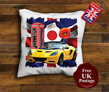 Lotus Elise Cushion Cover, Lotus Elise Cushion, Union Jack, Mod, Poppy,
