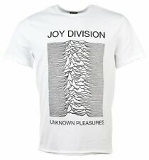 Official White Joy Division Unknown Pleasures T-Shirt from Amplified : 80s Music