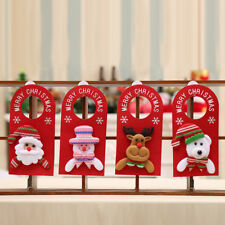 FM- EG_ CHRISTMAS SANTA CLAUS SNOWMAN MOOSE DOORPLATE DOOR HANGER XMAS DECOR KAW