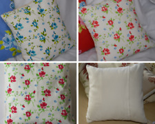 CUSHION COVER Pillow 14inch 35cms square Enamel Red Ink Blue Rosebud Flower