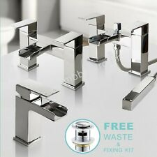 Bathroom Taps Chrome Basin Mixer Bath Filler Shower Deck Waterfall Tap Sets