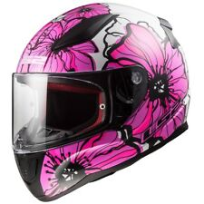 LS2 FF353 RAPID Leggera CASCO INTEGRALE MOTO Poppies rosa scuro