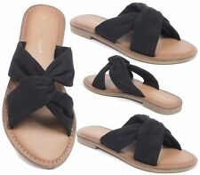 LADIES SANDALS FLAT HOLIDAY STRAPPY HOLIDAY SLIPPERS FLIP FLOP SUMMER SHOES