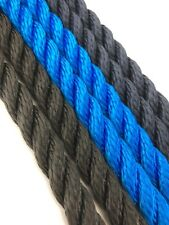 Mooring rope - 3 Strand 10mm - Floating - Fishing - Various Colours/Lengths