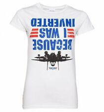 Official Women's Top Gun Because I Was Inverted T-Shirt : 80s Movies
