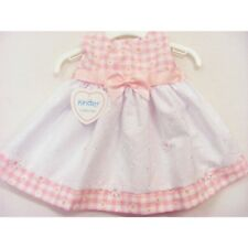 Kinder Baby Girls Pretty Spanish Style Broderie Anglaise & Gingham Daisy Dress