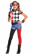 Harley Quinn DC Comics fancy dress outfit girls kids Superhero Villain costume