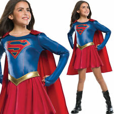 Supergirl TV series DC Comics fancy dress kids girls Superhero party costume