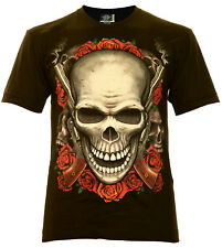 Two Gun´S SKULL - Rock Eagle Camiseta luminiscente Calavera Pistola craneo rose