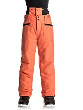 Quiksilver Mandarin Red Boundry Kids Snowboarding Pants