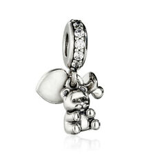New Genuine S925 Sterling Silver Baby Treasures Charms Teddy Bear Pendant Charm
