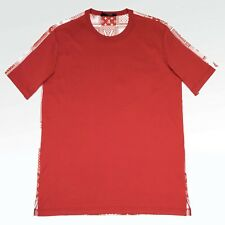 100% Authentic NEW Mens Louis Vuitton LV Printed Card Back Tshirt Red