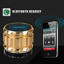Mini Bluetooth Lautsprecher Speaker Box Soundbox Subwoofer Schwarz Rot Gold
