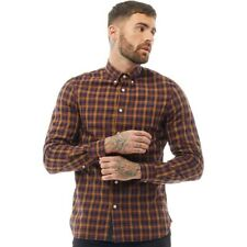 Men's Fred Perry Long Sleeve Check Shirt Herringbone Retro Gingham RRP79.99