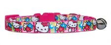"Rosa Super Lindo"" Hello Kitty Floral ""Collar Para Gato Gatito Seguridad"
