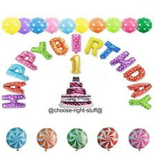 Palloncini Happy Birthday a pois VORTICE CANDY FOIL TORTA LAMINA LETTERA